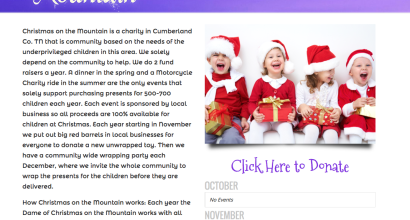 New Website for Christmas on the Mountain!